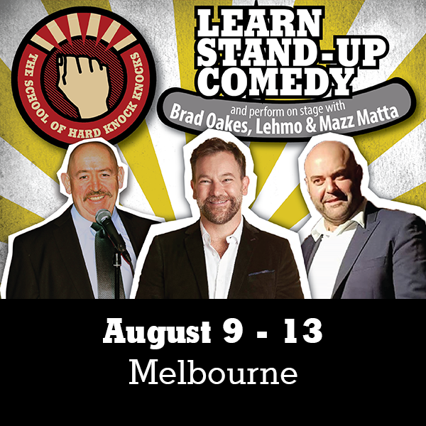 Learn stand-up comedy in Melbourne in August with Lehmo